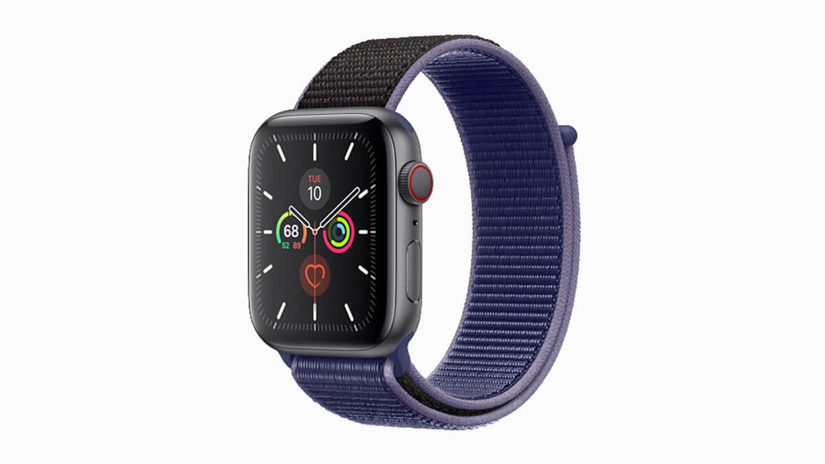 Apple Watch Series 5 so športovým náramkom