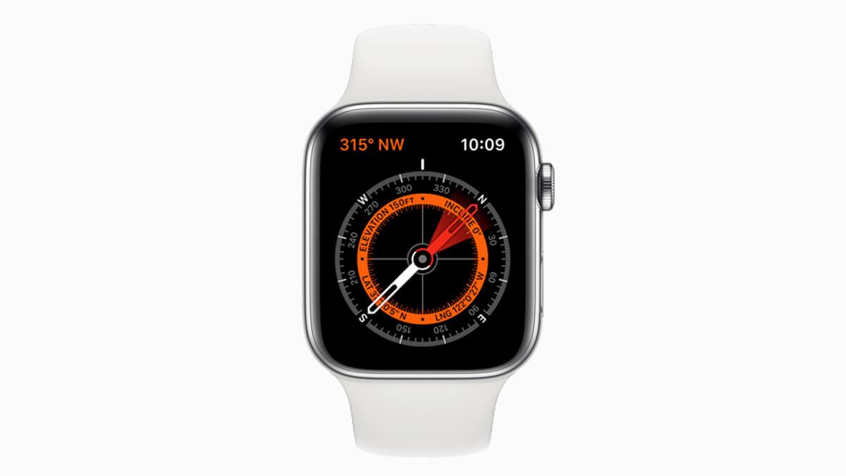 Apple Watch Series 5 prinášajú aj zabudovaný magnetický kompas