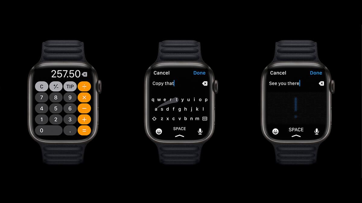 Klávesnica dostupná na nových Apple Watch 7