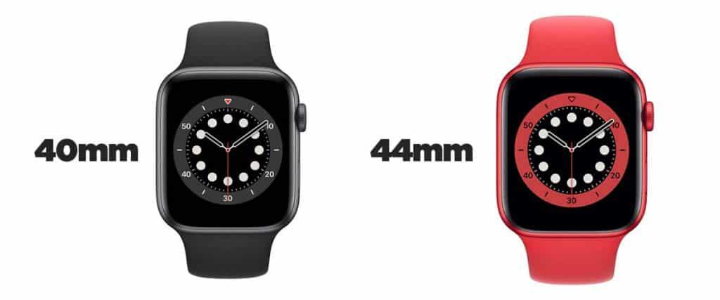 Apple Watch Series 6 - veľkosti