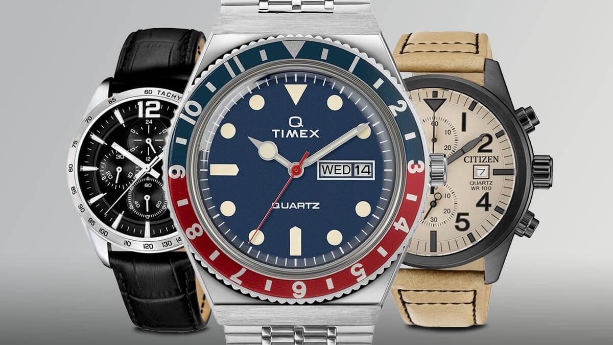 Lacné pánske hodinky možno nájsť v portfóliu známych výrobcov