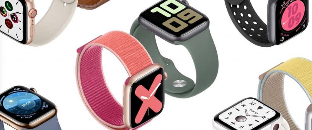 Farebné prevedenia Apple Watch 5