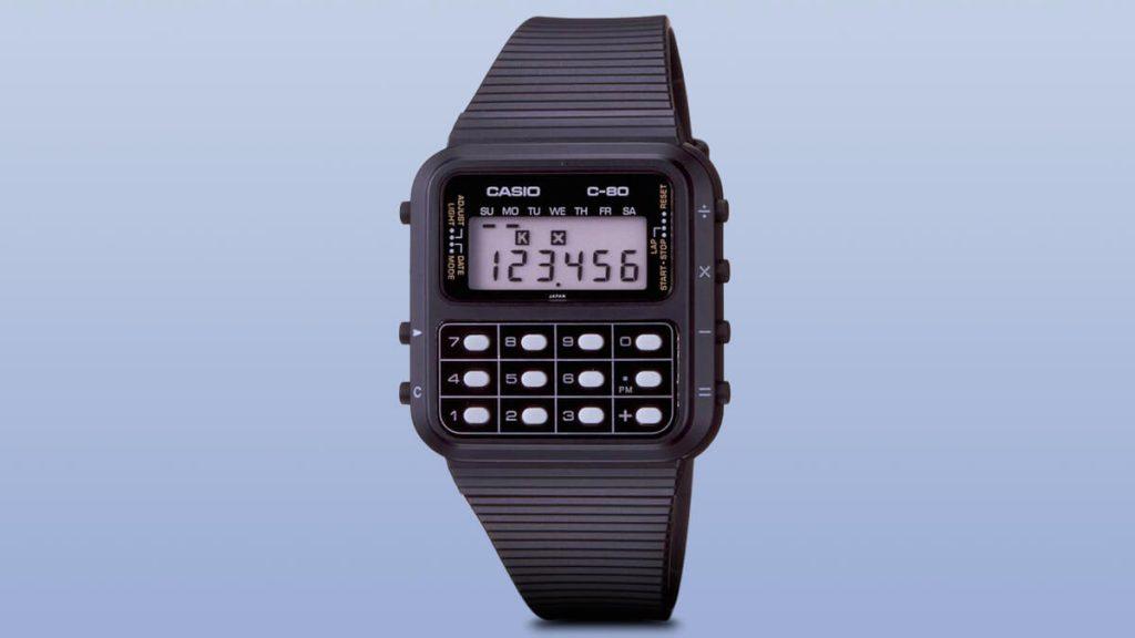 Casio C-80 - jedny z prvých hodiniek s kalkulačkou