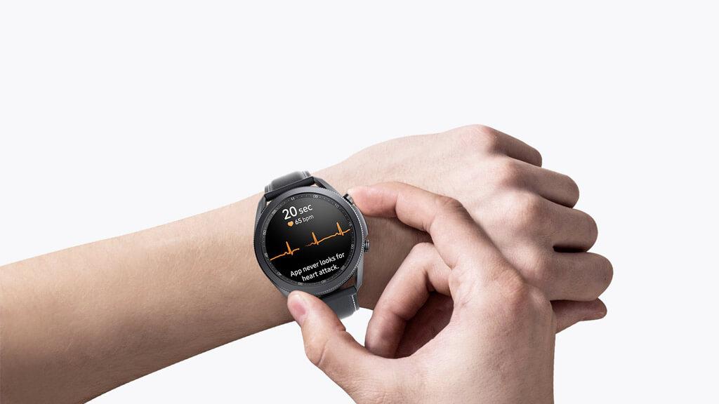 smat hodinky Samsung Galaxy Watch 3 ponúkajú precízne meranie tepu a EKG
